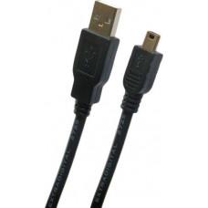 Кабель Extradigital USB 2.0 AF – Mini USB Тип B 0,5м